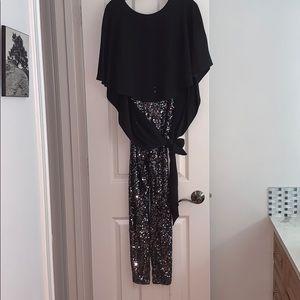 high low sequin jumpsuit